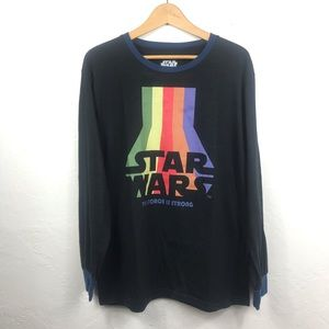 Star Wars Mens Long Sleeve The Force Shirt Size XL
